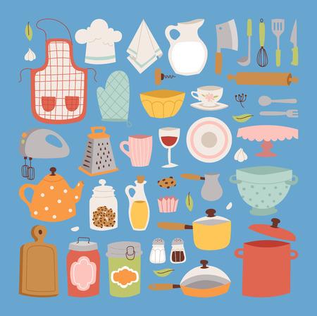 Kitchen set icon. Illustration