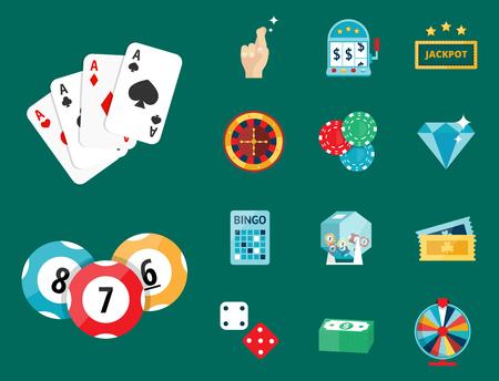 Casino game vector illustration.