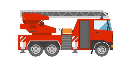 Département d'urgence de sauvetage de véhicule d'urgence de Firetruck aide illustration vectorielle de transport. Banque d'images - 76834935