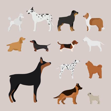 Divertido perro de dibujos animados perro carácter en estilo de dibujos animados ilustración vectorial. Foto de archivo - 77253540