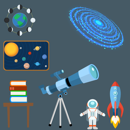 icons planet science universe space radar sign universe vector illustration.