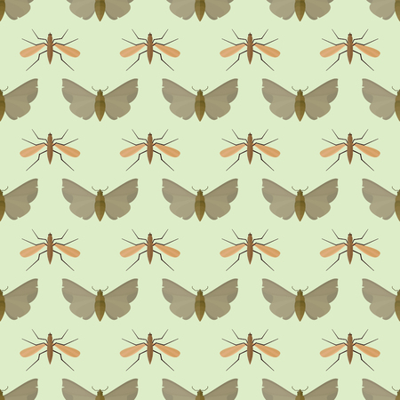 Bunte Insekten Symbole isoliert Wildnis Flügel Detail Sommer Wurm Raupe Bugs wilde Vektor-Illustration. Standard-Bild - 77303551