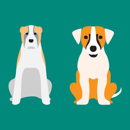Funny cartoon dog character bread cartoon puppy friendly adorable canine vector illustration. Фото со стока - 77303635