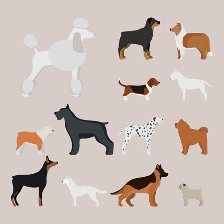 Funny cartoon dog character bread in cartoon style vector illustration. Illustration