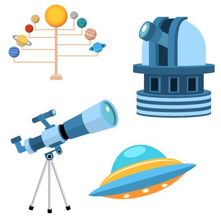 Illustrazione di vettore dell'universo del segno dell'universo del radar dello spazio dell'universo di scienza del pianeta delle icone di astronomia di astrologia.