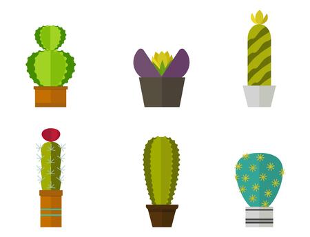 선인장, 자연, 사막, 녹색, 멕시코, 즙이 많은, 열대, 선인장, 꽃, 벡터 일러스트 레이 션.