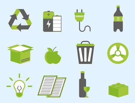 リサイクル自然のアイコン並べ替え環境創造的な保護シンボル ベクトル図の廃棄物します。  イラスト・ベクター素材