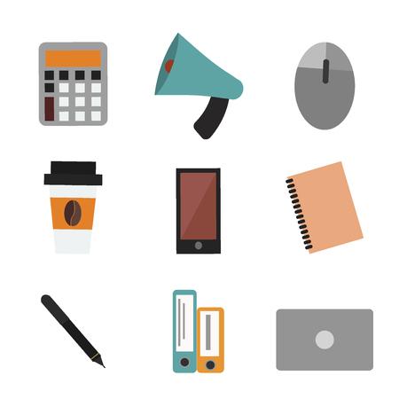 Bureau la vie concept concept de rapport de calcul calculateur cahier école éducation bloc-notes calendrier plan vecteur Banque d'images - 77890550