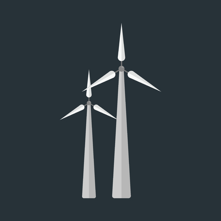 Power alternative energy and eco turbine wind station technology renewable nature vector illustration Ilustração