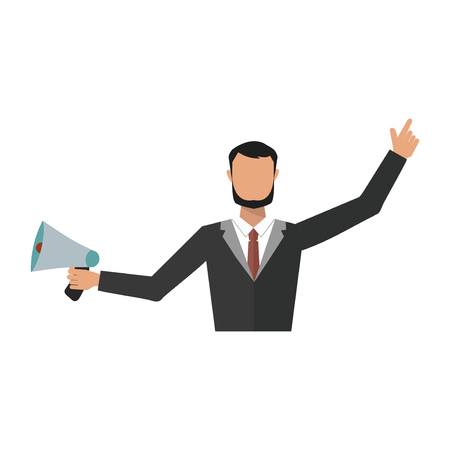 Business man office job stress work vector illustration flat style person manager character Ilustracja