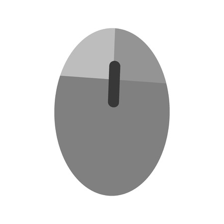 Computer mouse icon vector scrolling equipment flat design business button click internet technology.