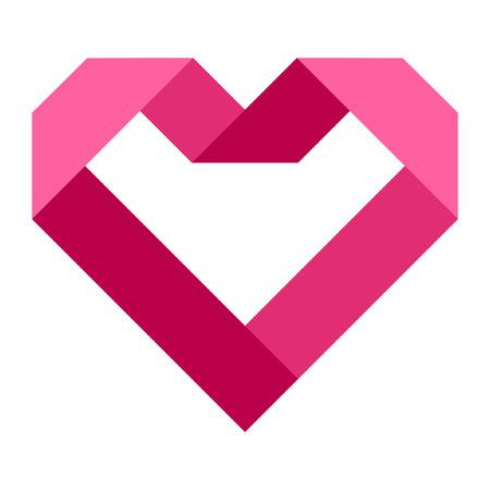 Hart vorm vector pictogram eenvoudige rode valentine symbool liefde teken romantische vectorillustratie