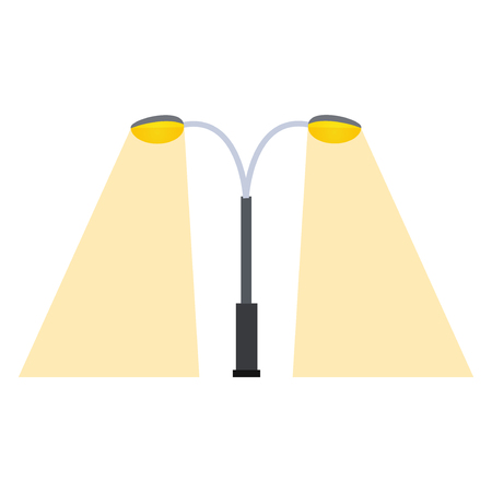 Street lamp silhouette Illustration