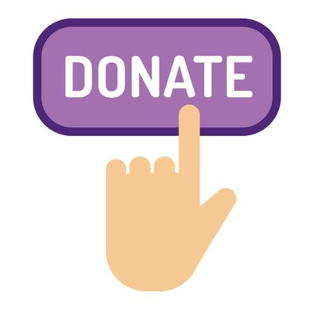 don bouton vecteur aider don illustration de don de charité donner le don de don de donner le symbole de l & # 39 ; icône