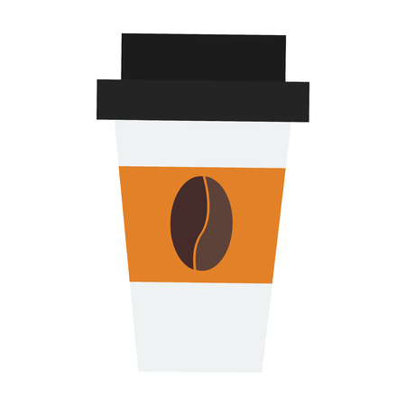 Take out drink cup vector illustration. isolated flat illustration graphic design
