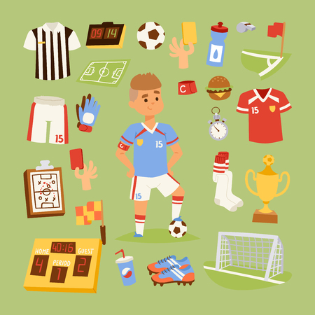 Soccer icons vector illustration. Ilustrace