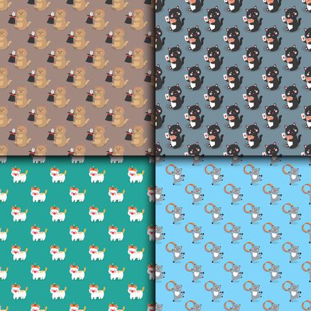 Van het de patroon vector vrolijke illustratie van circuskatten naadloze dieren van het illustratie kleine binnenlandse beeldverhaal het spelen zoogdier