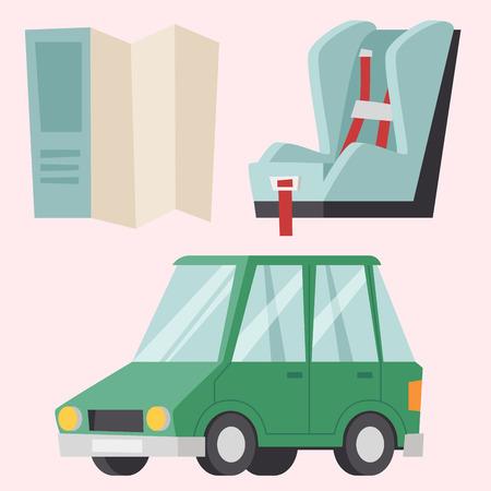 Auto-transport moto icon symbol véhicule équipement service véhicule voiture outils illustration vectorielle. Banque d'images - 79863243