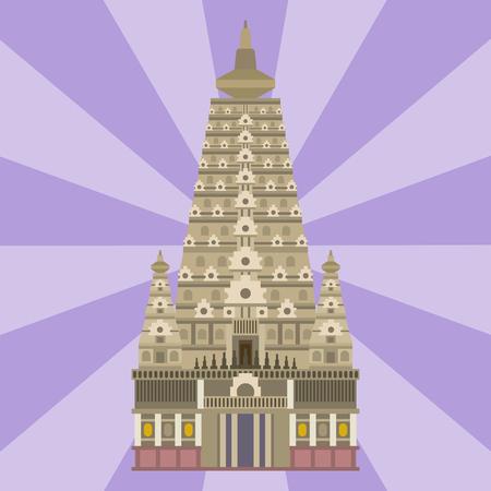 Kathedrale chinesischen Kirche Tempel traditionellen Gebäude Wahrzeichen Tourismus Vektor-Illustration Standard-Bild - 79863244