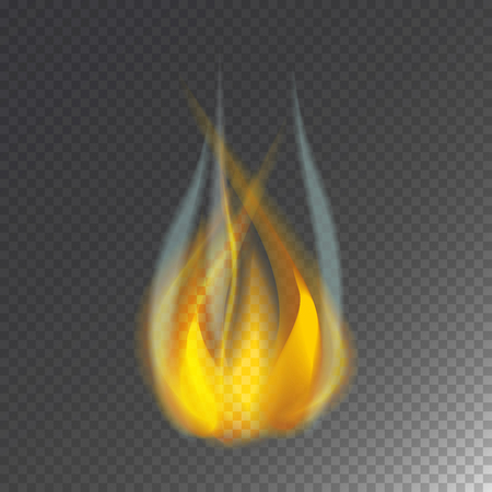ignite: Fire flame hot burn vector icon warm danger and cooking yellow bonfire light blazing campfire.