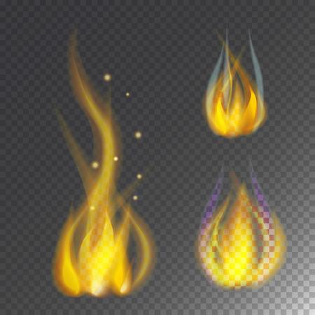 熱い炎を燃やすアイコン暖かい危険と料理黄色かがり火の光燃えるキャンプファイヤー。