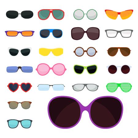 Moda impostare occhiali da sole sole occhiali da sole di plastica accessorio moderno illustrazione vettoriale illustrazione