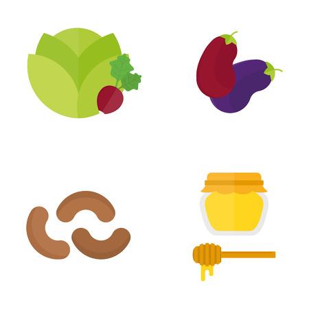 채식주의 음식, 자연, 음식, 과일, 채식주의, 건강, 다이어트, 야채, 그래픽 요리 요리 야채 건강 식물 영양 세트에 격리 된 흰색