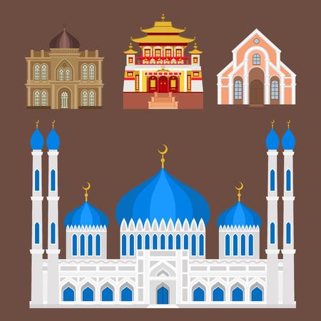 Chiesa Chiesa tempio tradizionale costruzione punto di riferimento turismo illustrazione vettoriale Archivio Fotografico - 80379781