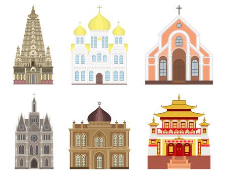 Cattedrale chiesa tempio tradizionale costruzione punto di riferimento illustrazione vettoriale turismo Archivio Fotografico - 80633523