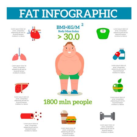 ジョギング インフォ グラフィック要素、医療コンセプト フラット ベクトル図によって重量を失う