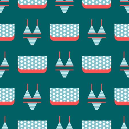 休暇女性パターン海光美服イラストのビーチウェア ビキニ布ファッションに見えます。
