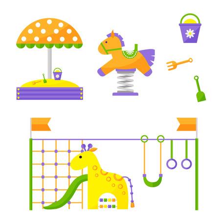 놀이터 놀이 공원 놀이 유원지 놀이 유원지 일러스트 레이션 유치원 일러스트