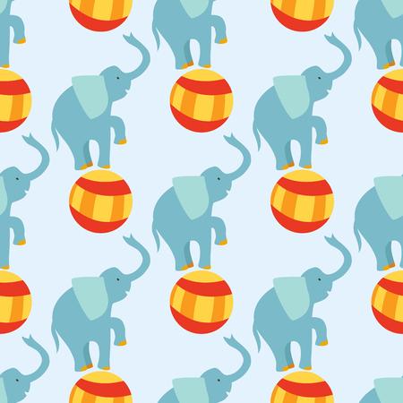 서커스, 재미있는, 성능, 코끼리, 동물, 벡터,, 패턴, 명랑한, 동물원, 엔터테인먼트, 요술 쟁이, 마술사, 연기자, 카니발,