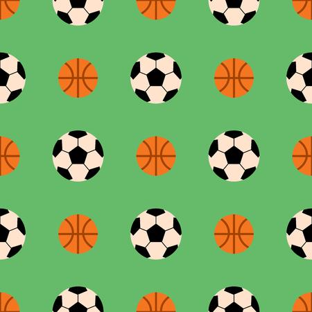 Seamless pattern with soccer balls vector hexagon symbol sport game tile basketball sport shape backdrop illustration.