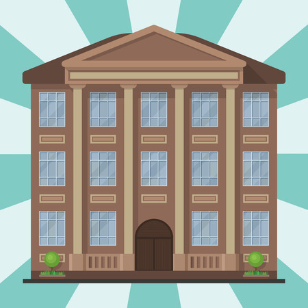 City building modern tower office architecture house business apartment home facade vector illustration Illustration