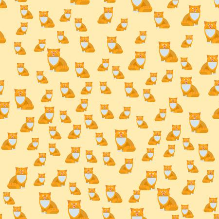 猫ベクトル図シームレス パターン  イラスト・ベクター素材