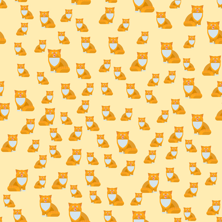 Cats vector illustration seamless pattern