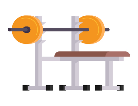 Fitness gym club vector icons athlet and sport activity body tools wellness dumbbell equipment Ilustracja