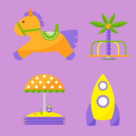 Speeltuin platte pictogram vectorillustratie