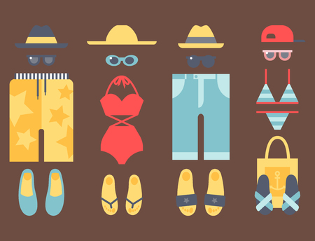 Beachwear bikini vector illustraton Illustration
