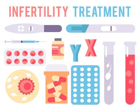 Onvruchtbaarheid zwangerschap infographic hulpmiddelen