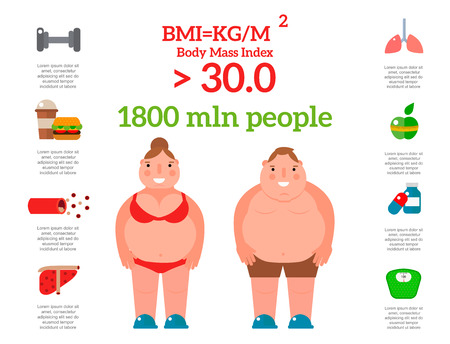 Lose weight by jogging infographic elements and health care
