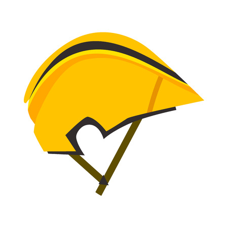 Bicycle helmet vector illustration protective wear crash cycling hat motorcycle accessory.