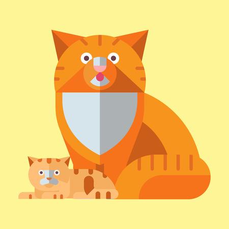 초상화, 고양이, 애완 동물, 귀여운, 고양이, 국내, 모피, 사랑스런, 포유류, 캐릭터, 일러스트