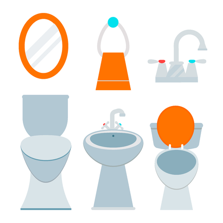 Bath room equipment icon Ilustracja