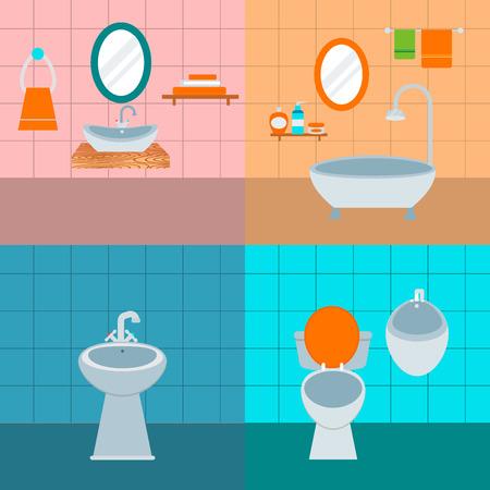 Bath room equipment icon Ilustração