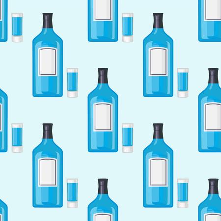 알콜 음료 병 패턴