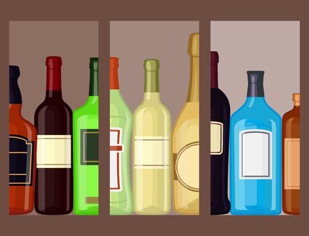 알코올 음료수 카드 일러스트
