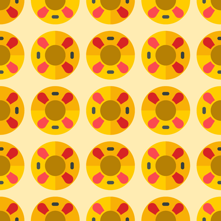 Cute sweet colorful donuts  pattern