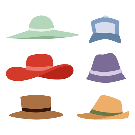 Summer hats collection Ilustrace